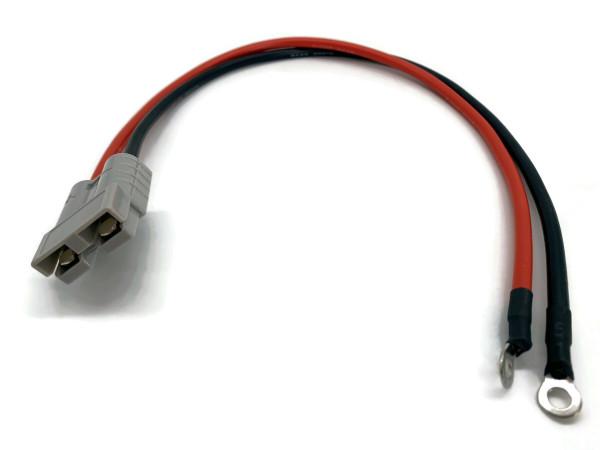 Batterie Stecker 50A 8AWG Kabel 50 cm Rot und Schwarz mit Kabelschuh M6