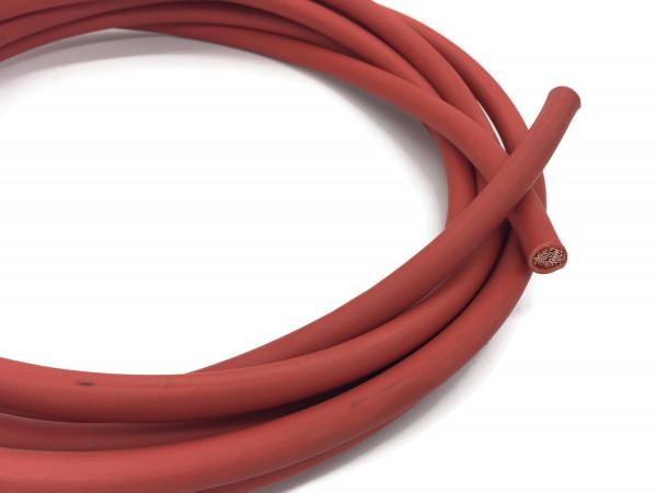 Batteriekabel 50 mm² 5m Kupferkabel Rot H07V-K50 am Stück