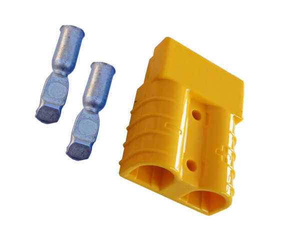 Batterie Stecker 50A 10 mm2 gelb Steckverbinder für Gabelstapler Kabel