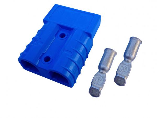Batterie Stecker 50A 16 mm2 blau Steckverbinder für Gabelstapler Kabel