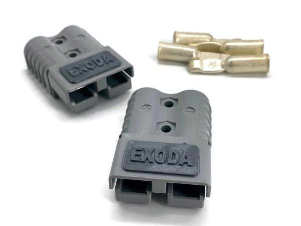 Batterie Stecker 120A 35 mm2 grau Set Steckverbinder für Gabelstapler Kabel