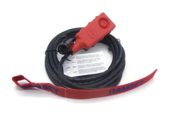 Kabelfernbedienung 251110 und Hakenband für elektrische Seilwinden