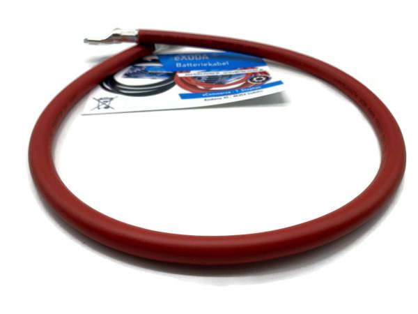 Batteriekabel 50 mm² 75cm Kupfer Stromkabel mit Ringösen M8 Rot 12V KFZ Kabel