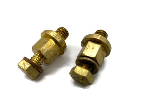 2x Schraubanschluß für Optima Batterie Typ U Schrauben für Ringösen von eXODA