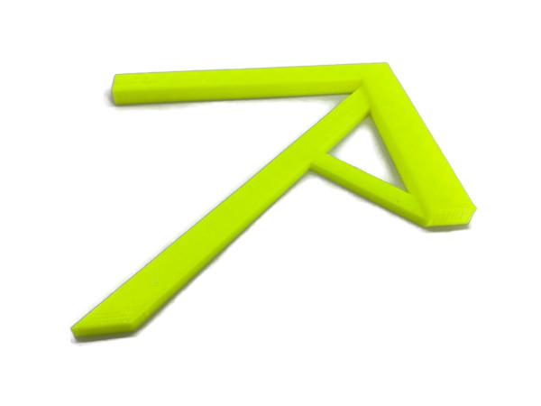 Zentrierwinkel für Rundmaterial und Rechtecke der Profi Mittenfinder neon
