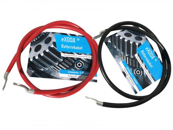 Batteriekabel Set 35 mm² 100cm Kupfer Stromkabel mit Ringösen M8 rot und schwarz