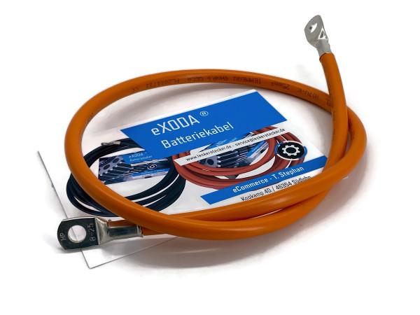 Batteriekabel 25 mm² 75cm Kupfer Stromkabel mit Ringösen M8 orange 12V KFZ