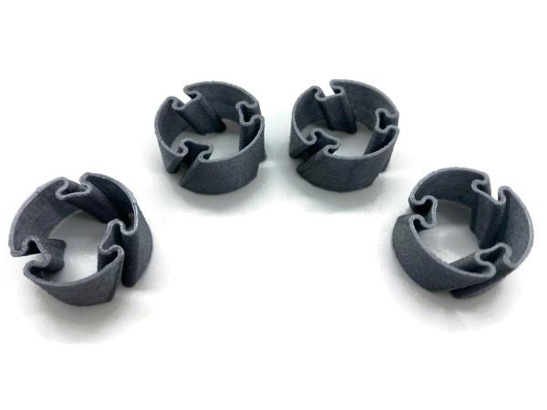 Batterie Adapter von AA auf C für Akku und Batterien 2 Stück bestehend aus 4 Ringen
