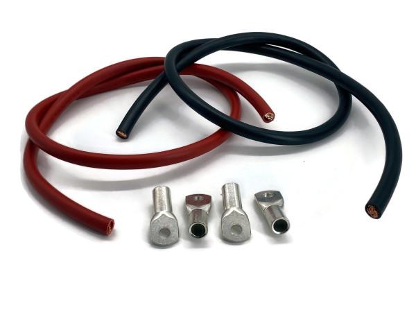 Batteriekabel 50mm2 4x M8 Kabelschuh jeweils 1m Kabel rot und schwarz