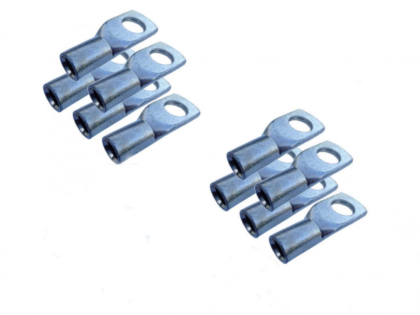 Kabelschuh 25mm2 M4 10x Ringöse Pressöse für Batteriekabel Quetschkabelschuhe