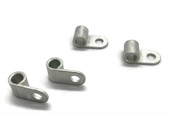 Fahnenkabelschuh 16 bis 25 mm² M8 4x Pressöse Kabelschuh Ringöse für Batteriekabel Quetschkabelschuhe zum verpressen löten von eXODA