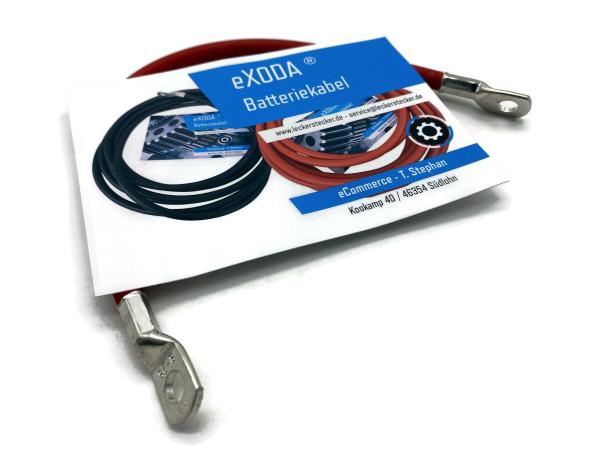 Batteriekabel 25 mm² 30cm Kupfer Stromkabel mit Ringösen M8 Rot 12V KFZ Kabel