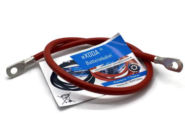 Batteriekabel 35 mm² 75cm Kupfer Stromkabel mit Ringösen M10 Rot 12V KFZ Kabel