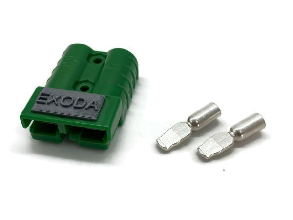Batterie Stecker 50A 4-6 mm2 grün Steckverbinder für Gabelstapler Kabel