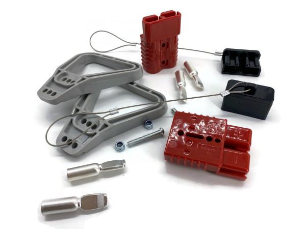 Batterie Stecker 175A 25 mm2 rot Vollset Steckverbinder für Gabelstapler Kabel