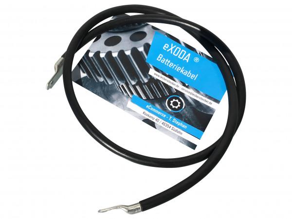 Batteriekabel 25 mm² 100cm Kupfer Stromkabel mit Ringösen M10 schwarz 12V KFZ