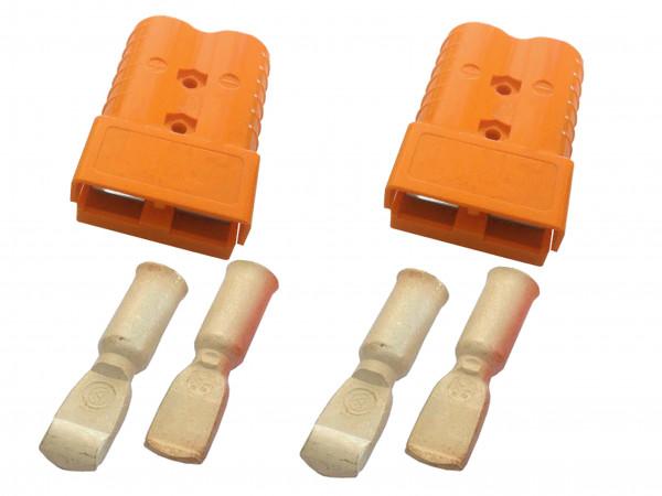 Batterie Stecker 350A 50 mm2 orange Set Steckverbinder für Gabelstapler Kabel