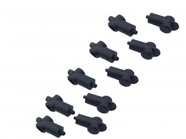 10x Polschutzkappe für Batteriekabel 1,5 2,5 4 6 8 10 mm² qmm Kopf 12mm