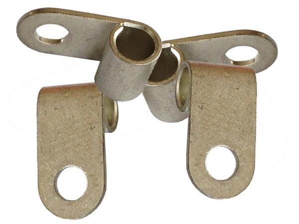 Fahnenkabelschuh 16 bis 25 mm² M6 4x Pressöse Kabelschuh Ringöse für Batteriekabel Quetschkabelschuhe zum verpressen löten von eXODA