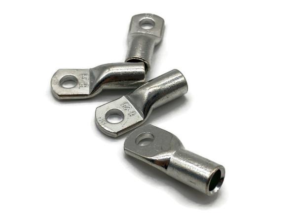 Kabelschuh 35mm2 M6 4x Ringöse Pressöse für Batteriekabel Quetschkabelschuhe