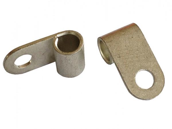 Fahnenkabelschuh 10 bis 16 mm² M6 2x Pressöse Kabelschuh Ringöse für Batteriekabel Quetschkabelschuhe zum verpressen löten von eXODA