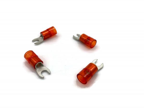 Gabelkabelschuh 6mm2 bis 10mm2 M5 isoliert 4x Ringöse Pressöse Quetschkabelschuhe rot