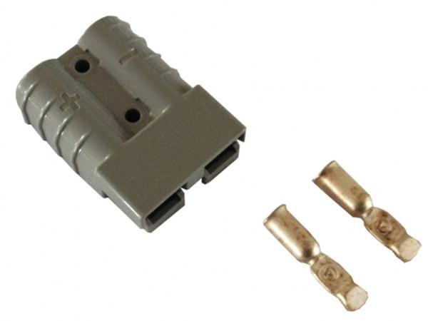 Batteriestecker 175A 25 mm² grau  Steckverbinder für Gabelstapler Kabel