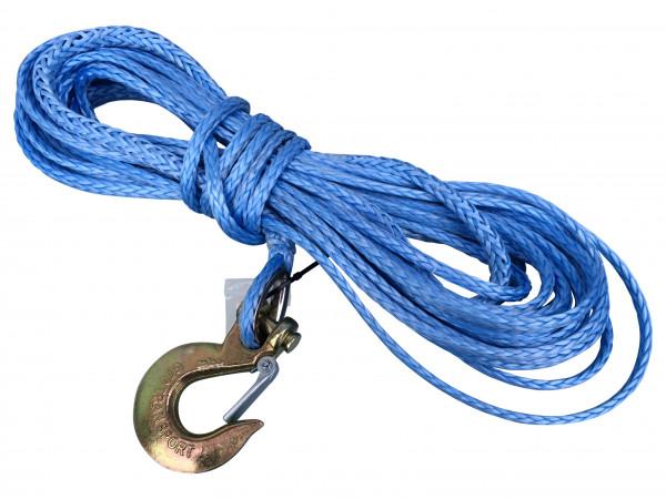 Dyneema Synthetikseil 8mm 30m mit Kausche und Haken für Seilwinden Offroad