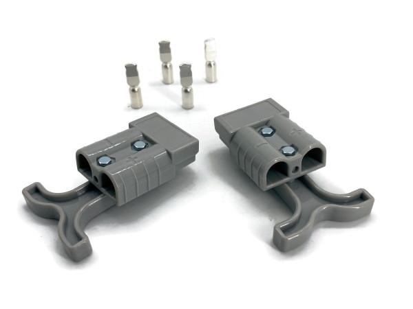 Batterie Stecker 50A im Set mit Griff und 4-6 mm2 Kontakten