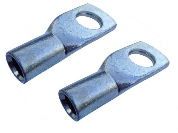 2x Ringöse 16 mm² M8 Pressöse Kabelschuh für Batteriekabel Quetschkabelschuhe zum verpressen löten von eXODA