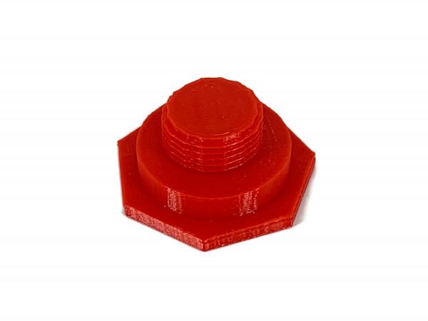 LPG Tankdeckel mit M22 Gewinde DISH Autogas Tankverschluss rot