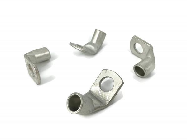 4x Ringöse 35 mm² M8 Pressöse Kabelschuh für Batteriekabel Quetschkabelschuhe zum verpressen löten gewinkelt