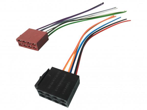 ISO Stecker Adapter Kabel Set für Autoradio Auto KFZ Einbau Anschluss 12V Universal Autoradio