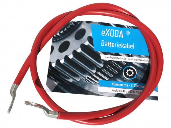 Batteriekabel 10 mm² 100cm Kupfer Stromkabel mit Ringösen M6 rot 12V KFZ Kabel