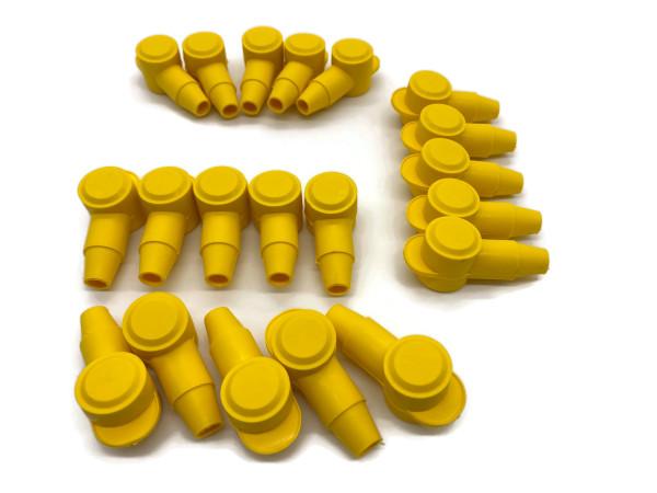 Polschutzkappe 20x Isolierkappe Gelb für Batteriekabel 16 25 35 50 mm² Kopf 18mm
