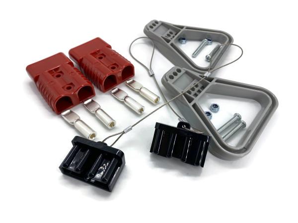 Batterie Stecker 175A 16 mm2 rot Vollset Steckverbinder für Gabelstapler Kabel