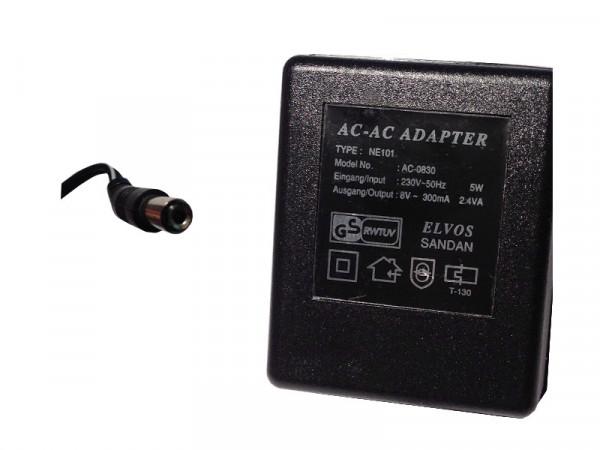 Netzteil Lagegerät ELVOS SANDAN AC-AC Adapter 8V 300mA mit 5mm Stecker