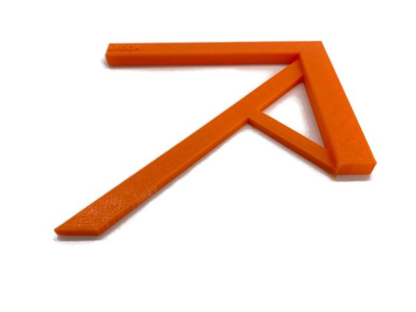 Zentrierwinkel für Rundmaterial und Rechtecke der Profi Mittenfinder orange