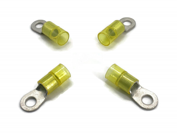 Kabelschuh 16 bis 25mm2 M8 isoliert 4x Ringöse Pressöse Quetschkabelschuhe gelb